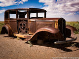 Desert, Arizona, Jalopy, car, AZ