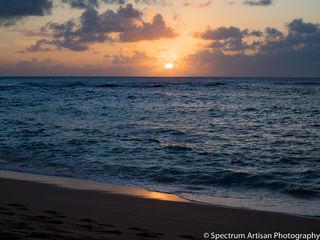 sunset, beach, ocean, nature