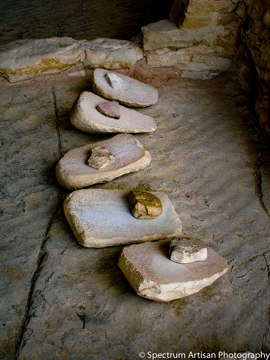 Grinding Stones - Mesa Verde National Park in Colorado