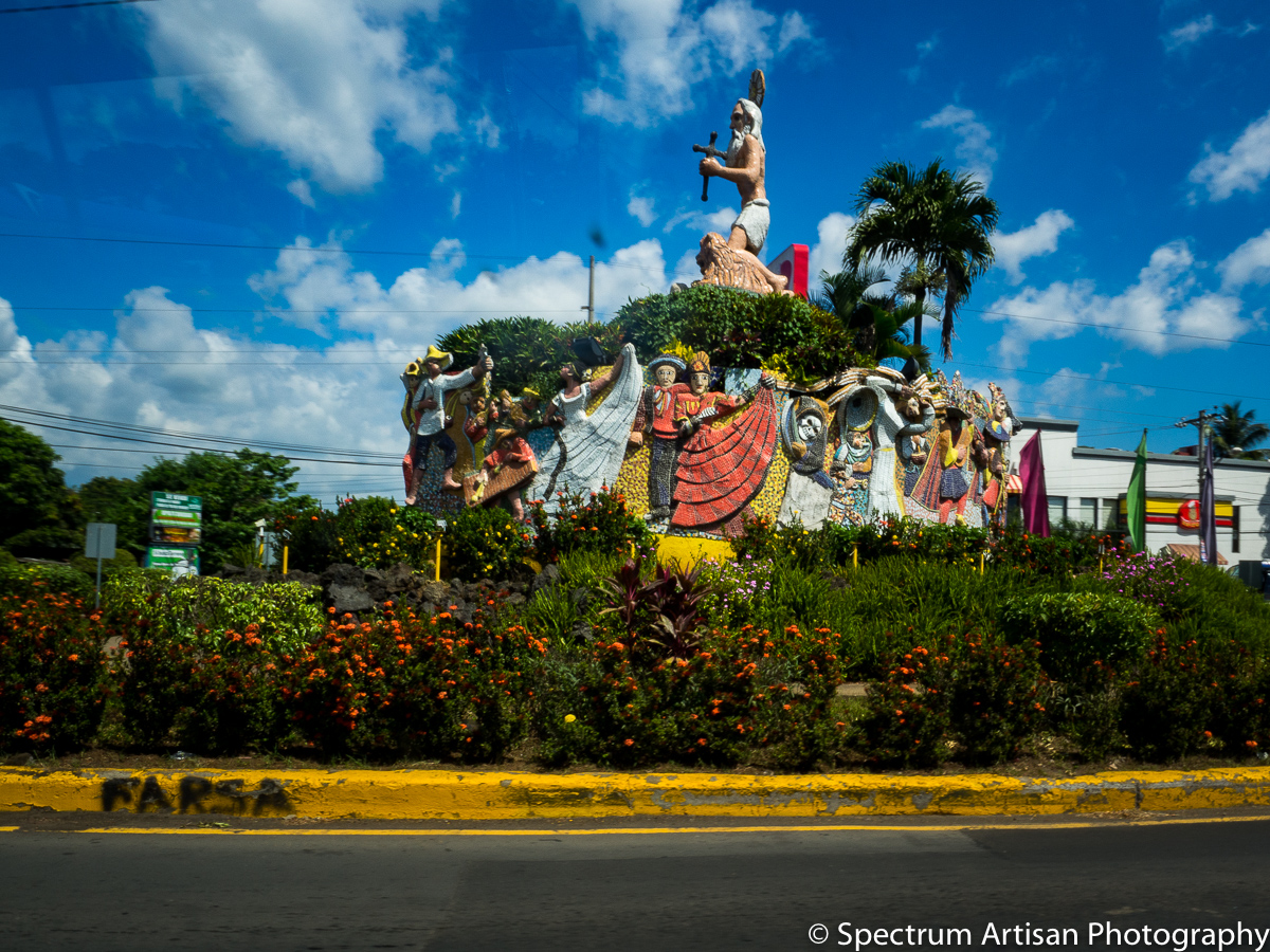 Traditional sculpture art of Nicaragua.  Art is everywhere.
